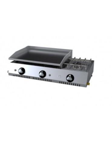 PLANCHA ECONOMICA 600 CROMO GAS+FOGON PLC60CRF HR FAINCA