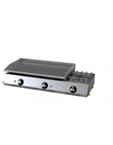 PLANCHA ECONOMICA 800 RECTIFICADA GAS+FOGON PLC80RTF HR FAINCA