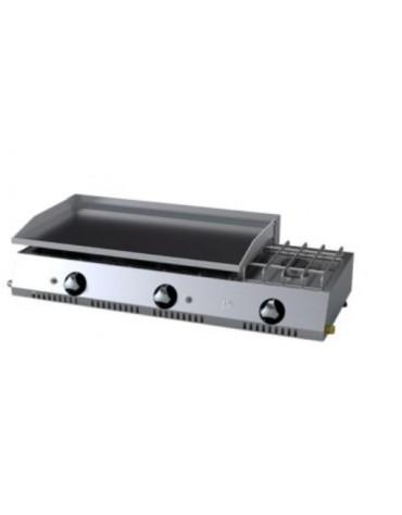 PLANCHA ECONOMICA 800 CROMO GAS+FOGON PLC80CRF HR FAINCA